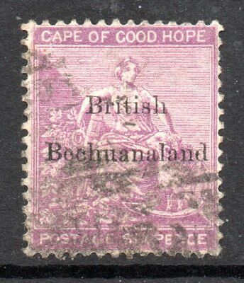 Bechuanaland: 1885 CoGH 6d ovpt. SG 7 used