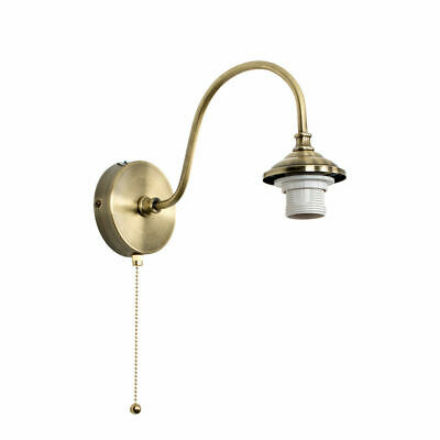 Antique Brass Curved Wall Light Fitting Industrial Design Metal Lounge Lighting