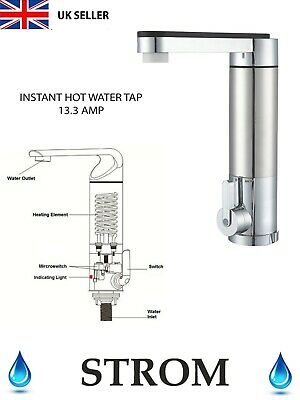 Strom Electrical 3Kw Instant Hot Water Tap - Metal Seihtm1 Plumbing Quality Bnib