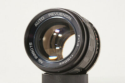 AUTO REVUENON 55mm F1.4 - M42 lens made in Japan  TOP