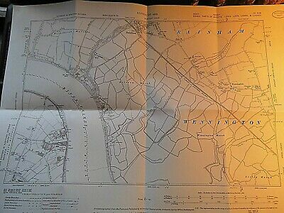 Thames-Side Essex,Kent:rainham Ferry,Erith Factories:plan/Map With Archive Stamp