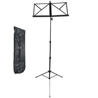 Rocket Heavy Duty Folding Music Stand with Carry Bag - Black