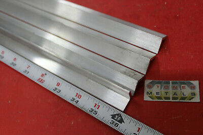 "4 Pieces 3/4"" x 3/4"" x 1/8"" ALUMINUM 6061 ANGLE BAR 36"" long T6 Mill Stock"