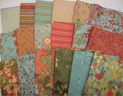 LOT Cotton Fabric Quilt Fat Eighths & More Material Estate Craft Mixed Estate