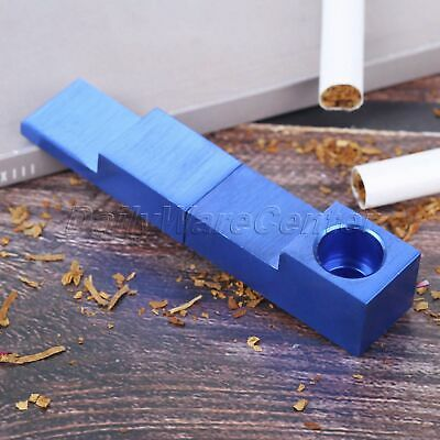 Metal Magnetic Folding Smoking Pipe Blue Portable Tobacco Herb Pipe Smoker Gift