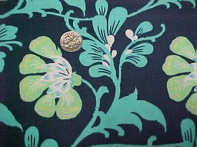 Cotton Fabric Quilt Sew Material Daisy Chain Rowan Turquoise Lime Green Craft