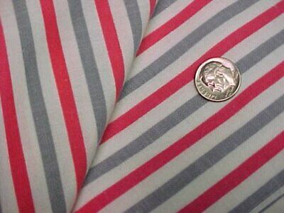 BEST Vintage Feedsack Quilt Fabric Red Gray STRIPES 1940s WWII Flour Sack