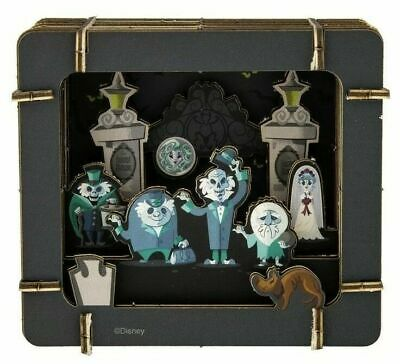 Disney Parks Haunted Mansion Hitchhiking Ghosts Paper 3D Diorama New in Package