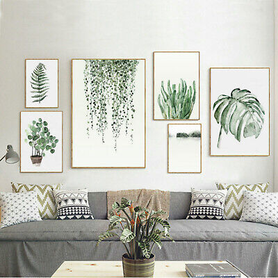 Unframed Tropical Plant Leaf Prints Art Canvas Poster Modern Wall Home Decor
