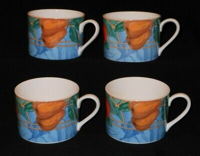 (3211c1) Victoria & Beale FORBIDDEN FRUIT 9024 colorful graphic flat tea cup x 4