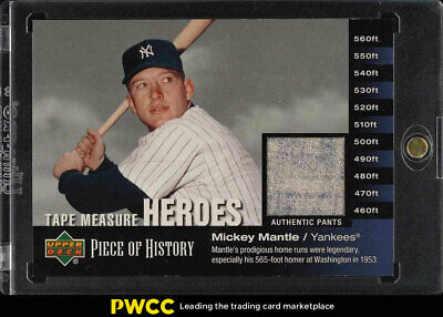 2002 Upper Deck Piece Of History Tape Measure Heroes Mickey Mantle PATCH (PWCC)