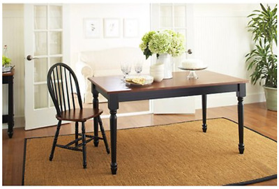 FARMHOUSE DINING TABLE Solid Wood Style Room Rectangular ...