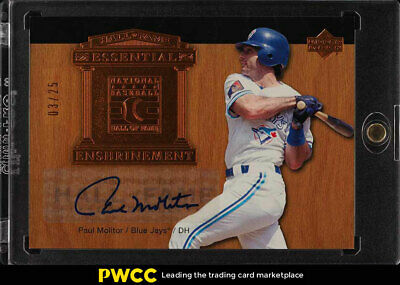2005 UD Hall Of Fame Essential Enshrinement Paul Molitor AUTO /25 #EE-PM3 (PWCC)