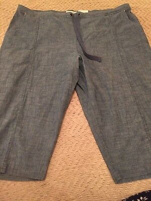 Croft & Barrow Women Pull-On MID Rise Skimmers Size 2XLarge, GRAY/BLUE COLOR