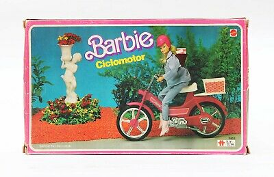 Vintage Barbie Pink Motor Bike Scooter Mope Top Toys Argentina MIB