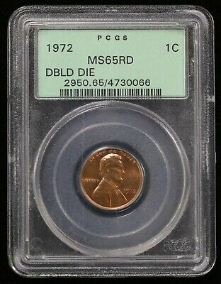 1972 Lincoln Memorial Cent Pcgs Ms65Rd Double Die Obv - 04423