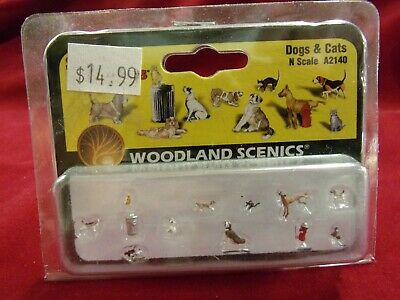 Woodland Scenics A2140 N Gauge Dogs /& Cats