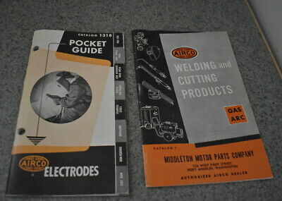 6 Vintage Airco  booklets Electodes Pocket Guide,Welding  equipment & products &