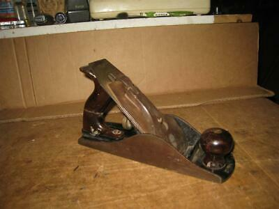 "Vintage Stanley Bailey No. 4 1/2 Corrugated Bottom 10"" Carpenter's Wood Plane"