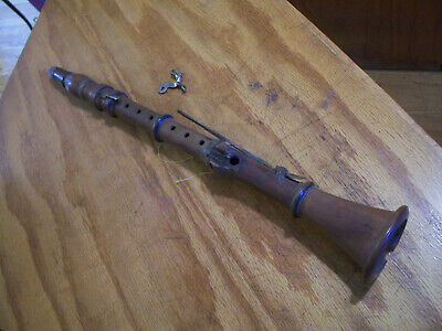 Antique 1800 Boxwood-Ebony-Brass Clarinet As Is condition see all pics...