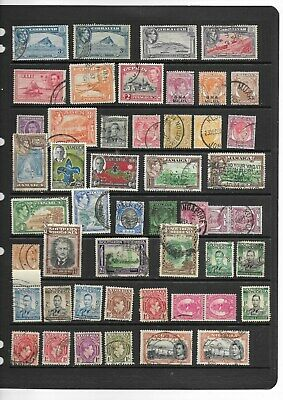 British Commonwealth GVI used collection on 5 scans ( see desc)