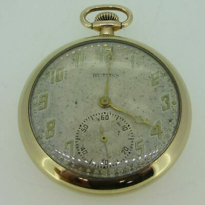 Antique 1923 Illinois Grade A. Lincoln Model 3 12s 21J Gold Filled Pocket Watch