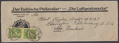 1928 The Baltic Philatelist Wrapper, Riga,Latvia: Abo, Finland; Der Baltische P'