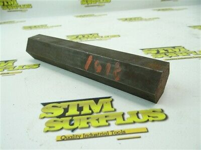 "2.5Lb Solid Hexagon 1018 Steel Stock 1-1/4"" X 7"""