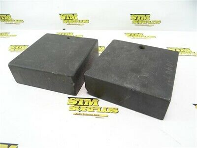 "Pair Of Granite Inspection Stand Bases 2"" X 6"" X 6"""