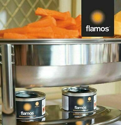 15 x Flamos Ethanol Gel Chafing Dish Fuel 3 Hour Can Catering BBQ Buffet Camping