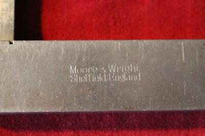 Professional Quality Vintage Moore & Wright Sheffield England Machinist Square
