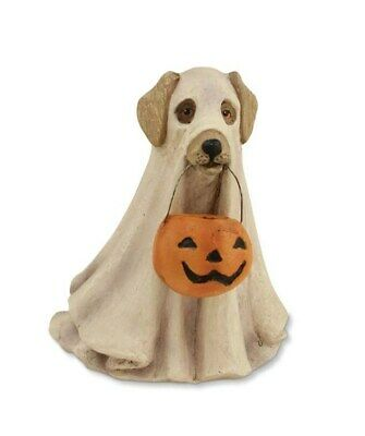 Bethany Lowe Halloween Spooky Ghost Dog Figure Decor Trick or Treater Pet