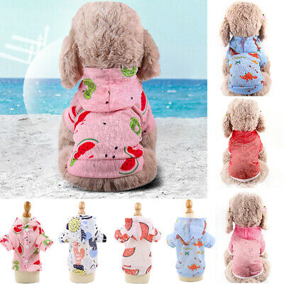 Cute Shirts Pet Dog Sunscreen Vest Summer Puppy Dog Breathable Mesh Clothes