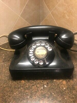 Vintage Art Deco North Electric Galion Ohio Telephone Rotary Dial Black Bakelite