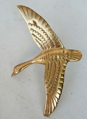 Solid Brass Heavy Large Shore Bird Door Knocker Seagull 10""