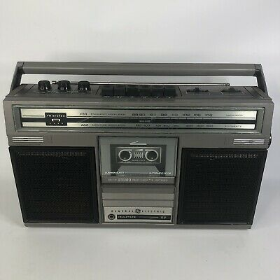 General Electric 3-5253a Boombox Ghetto Blaster Radio Cassette Player
