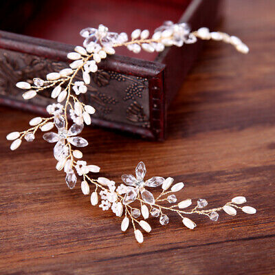 Fashion Tiara Rhinestone Bridal Headband Hair Band Flower Wedding Jewelry