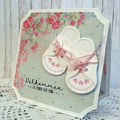 Baby Shoes Metal Cutting Dies DIY Scrapbooking Paper Photo Cards Making Crafts