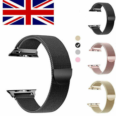 Milanese Loop Strap Watch Replacement Band Fit For Apple Watch Series 1/2/3/4 UK