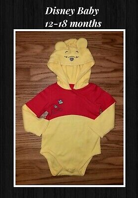 Disney baby branded Winnie The Pooh Hooded Bodysuit 12-18 months