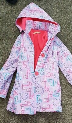 Lily And Dan Kids  Raincoat Size 7 In Excellent Condition