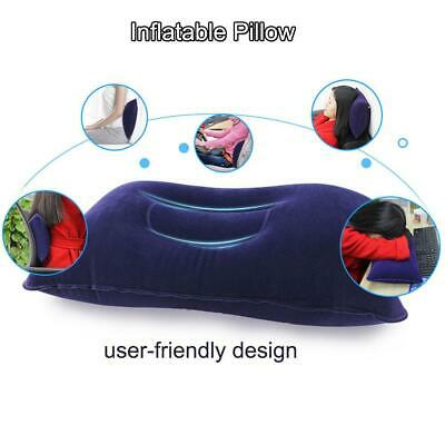 Outdoor Travel Pillows Inflatable Pillow Cushion Beach Car Plane Waist Bed Sleep