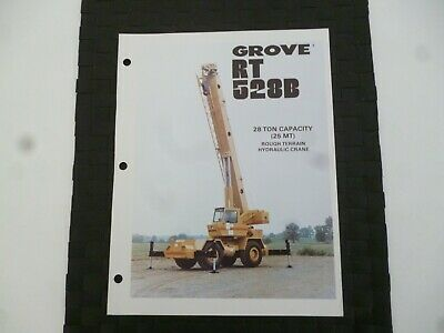 Grove Rt528B Rough Terrain Hydraulic Crane Leaflet/Pamphlet *As Pictures*