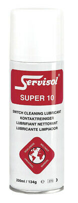 Servisol Super 10 Switch & Contact Cleaner  noisy intermittent crackly controls