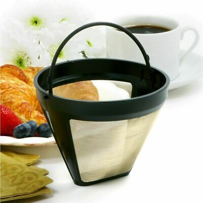 Cone Shape Coffee Filter  Reusable Coffee Filter Mesh With Handle Tool CL (