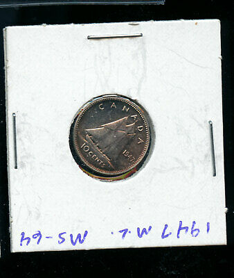 1947 Maple Leaf Canada Silver 10 Cents MS64 or better WOW! Coin  A704