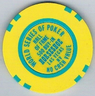 Binion's Horseshoe 500 Buy In Casino Chip 1992 World Series OF Poker Las Vegas