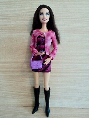Barbie Brunette Fashionistas in Pink and Black with Long Black Boots