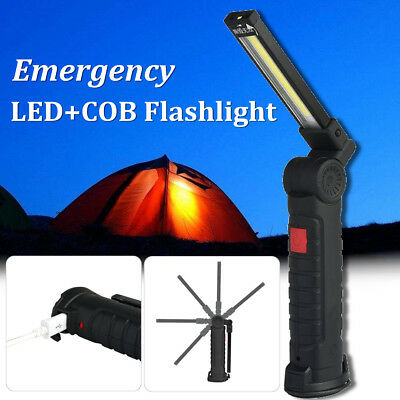 Rechargeable Magnetic Torch Flexible Inspection LED COB Cordless Work Lamp Light