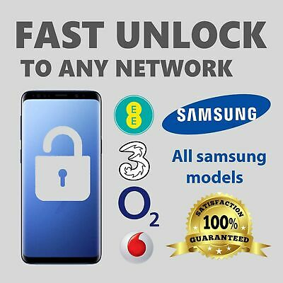 SAMSUNG UNLOCK CODE FOR  NOTE 9,8,7,5,4,3,2,1,S10,S9,S8,S7,S6,S5,Fast